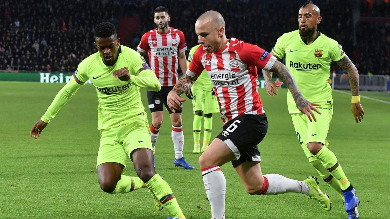Angeliño. Su gran temporada en el PSV le valió la llamada de la selección de fútbol sub-21