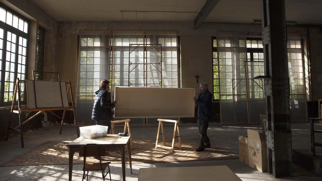Montajes de las muestras que integran los «Oficios del Artes», que se ubicarán en el edificio de la Escuela de Artes y Oficios de la Fábrica de la Vega