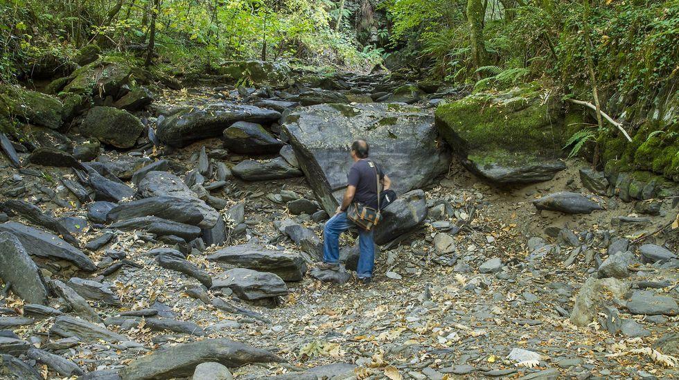 El Antigua es un afluente del Cabe que en verano se seca en un tramo de un kilómetro cerca de Trascastro (O Incio)