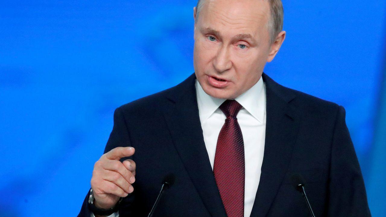 El presidente ruso, Vladimir Putin, ha presentado hoy ante el Parlamento su informe anual sobre el estado de la nación