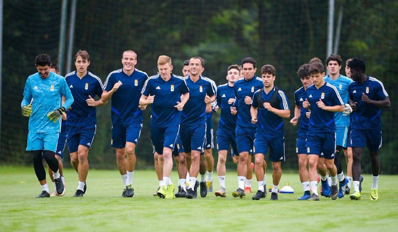convocatoria entrenamiento requexon.Los jugadores del Real Oviedo durante el entrenamiento del miércoles