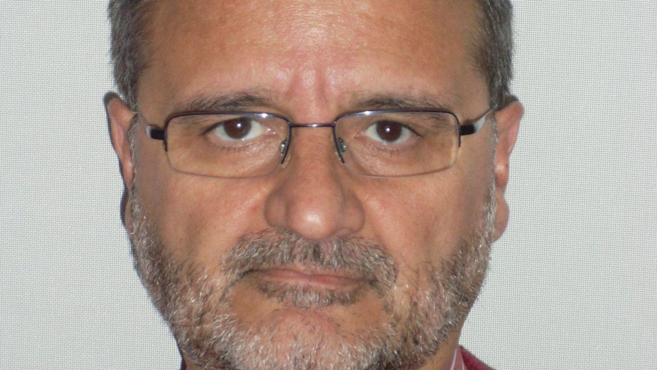 El rector de la Universidad de Oviedo, Santiago García Granda.Imagen del Edificio Polivalente del campus universitario de Gijón donde se muestra la ubicación de MediaLab Uniovi