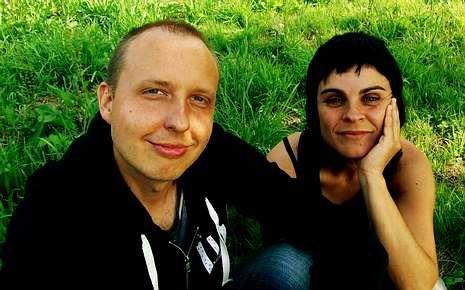 O compositor Karolis Biveinis e a cantante Mónica de Nut.