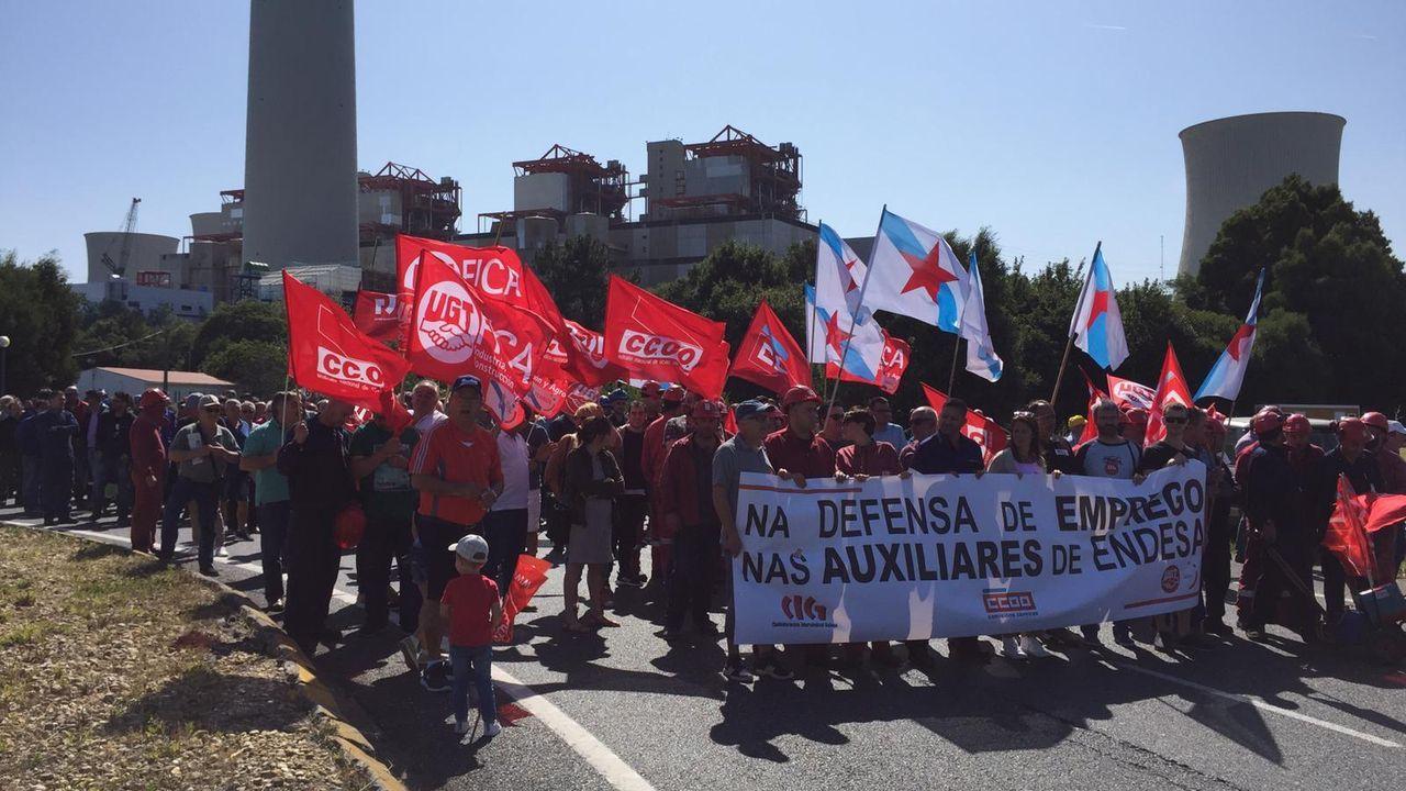 Protesta de los bomberos de Vigo en el pleno.Los bomberos de Vigo, en imagen de archivo
