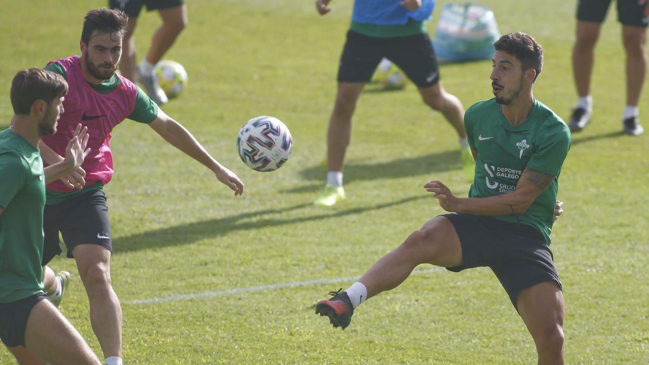 Galicia busca protagonismo en la Liga.Entrenamiento en Calabagueiros el pasado 30 de junio