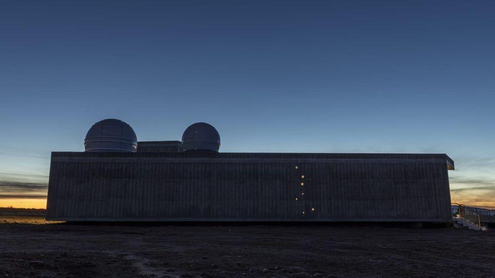 El observatorio astronómico está en Valdín, A Veiga