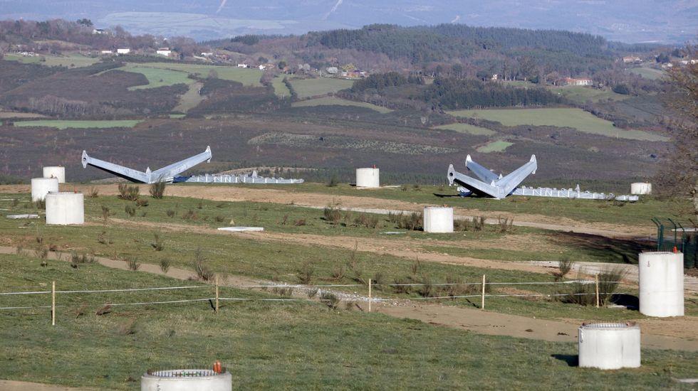 El accidente se produjo en el monte de Seteventos, cerca del huerto solar
