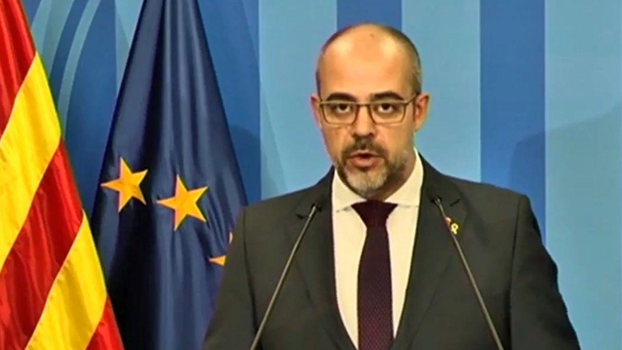 Miquel Buch, en la sala de prensa de la Generalitat
