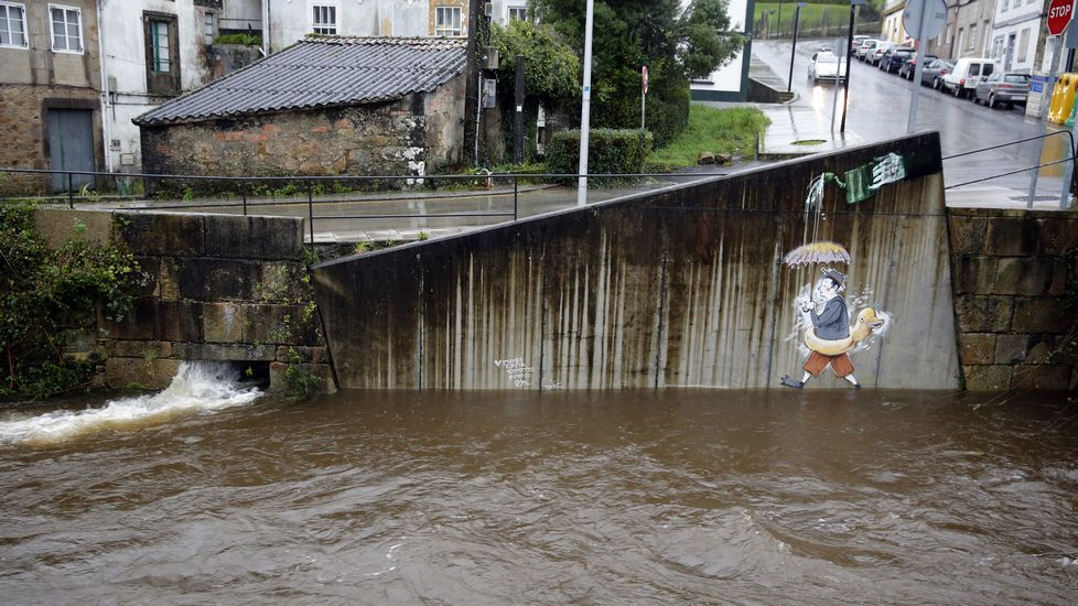 El río Sarela en Santiago.