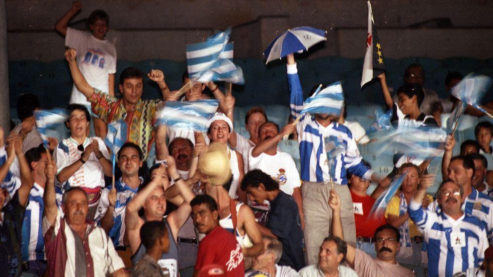 Aficionados del Dépor en Río.