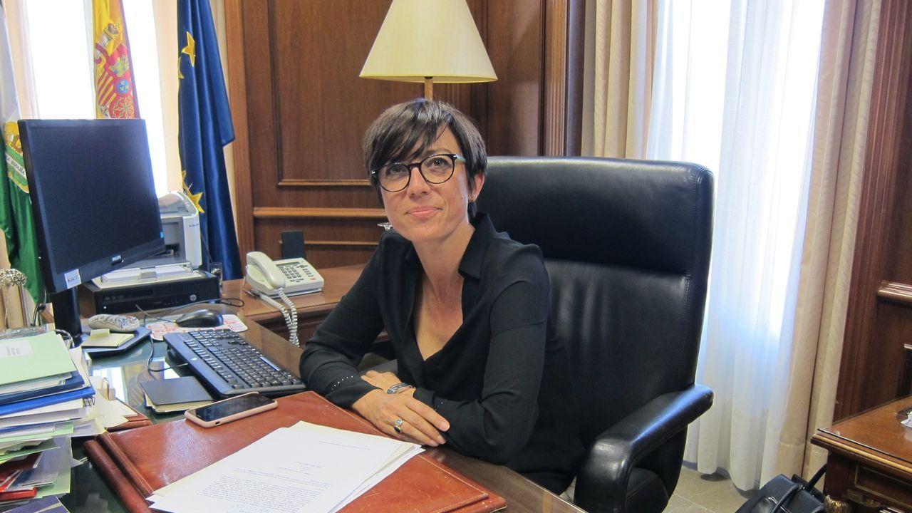 Inundaciones en Cambados.María Gámez, subdelegada del Gobierno en Málaga