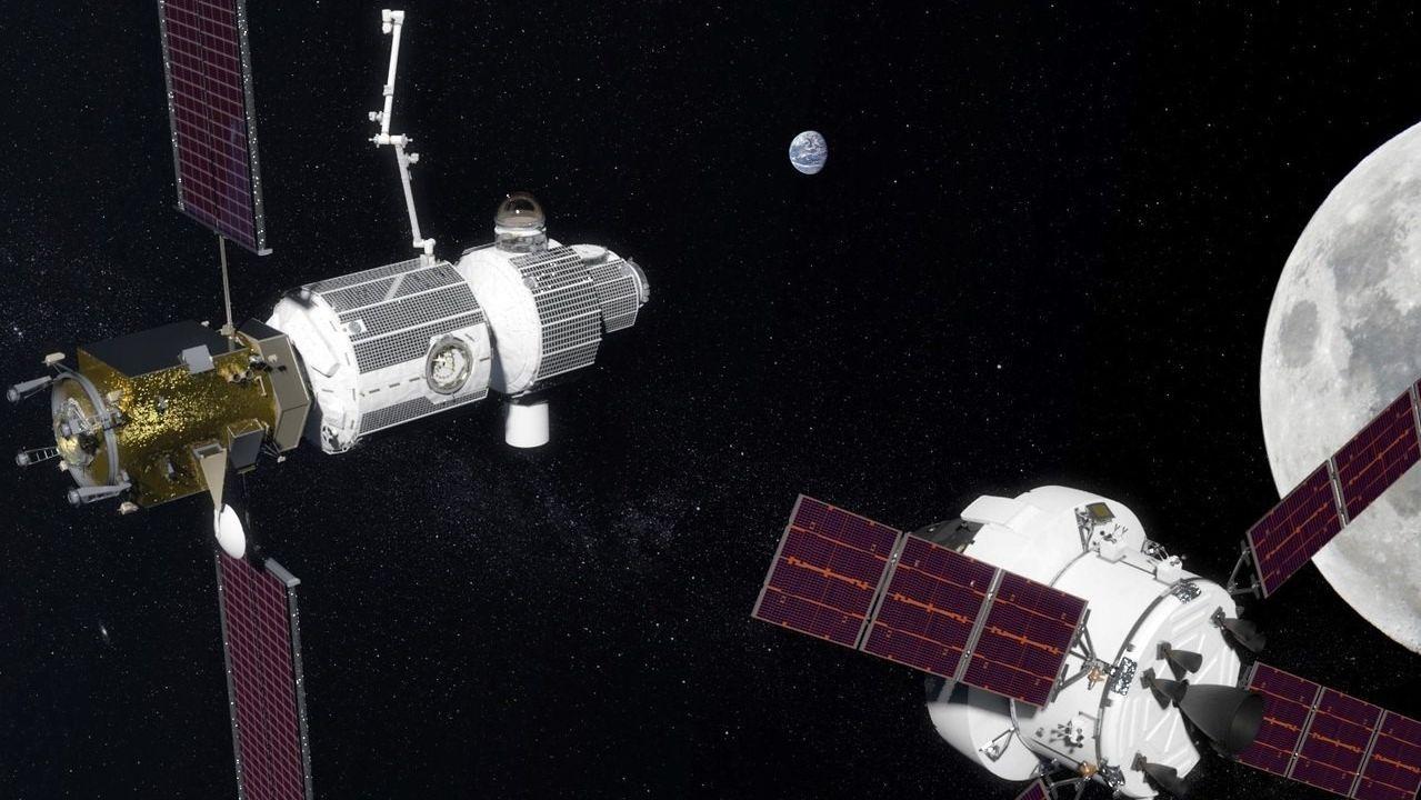 Primer paseo espacial exclusivamente femenino.Ilustración de la futura estación espacial comercial de Axiom Space