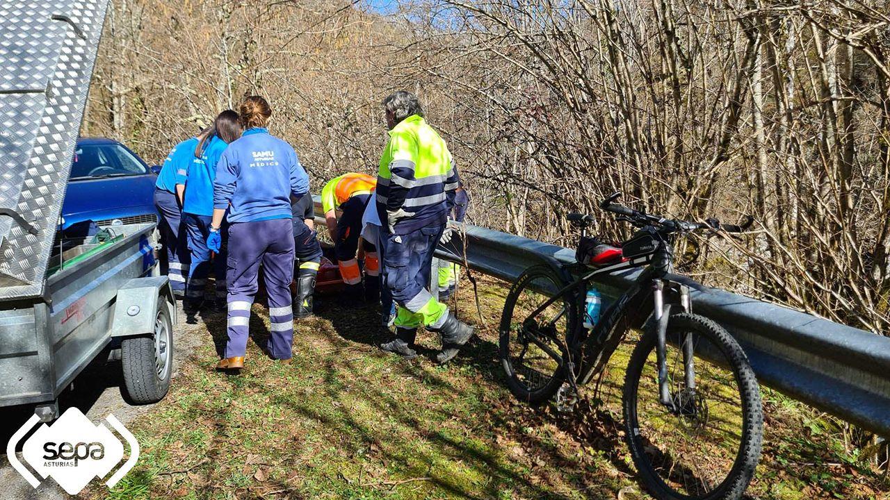 Ciclista herido en Caso