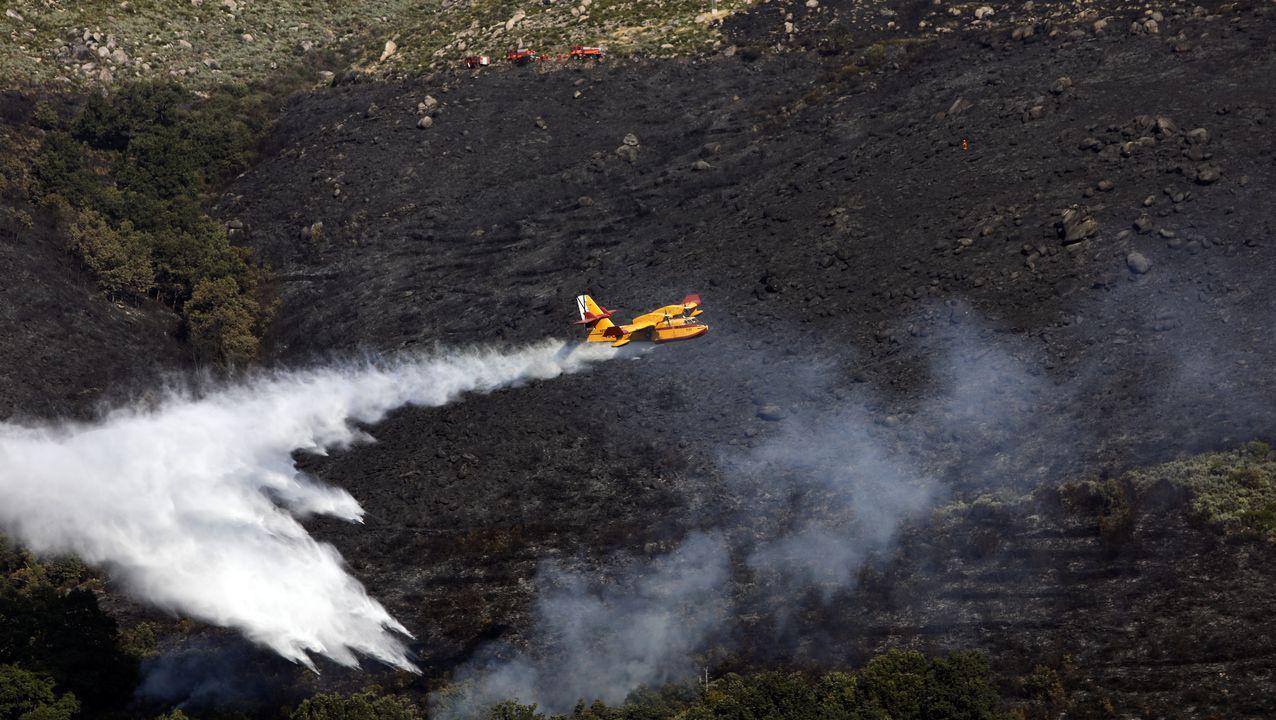 Incendio en Vilariño de Conso.Gabriel Alén, nuevo delegado territorial de la Xunta en Ourense