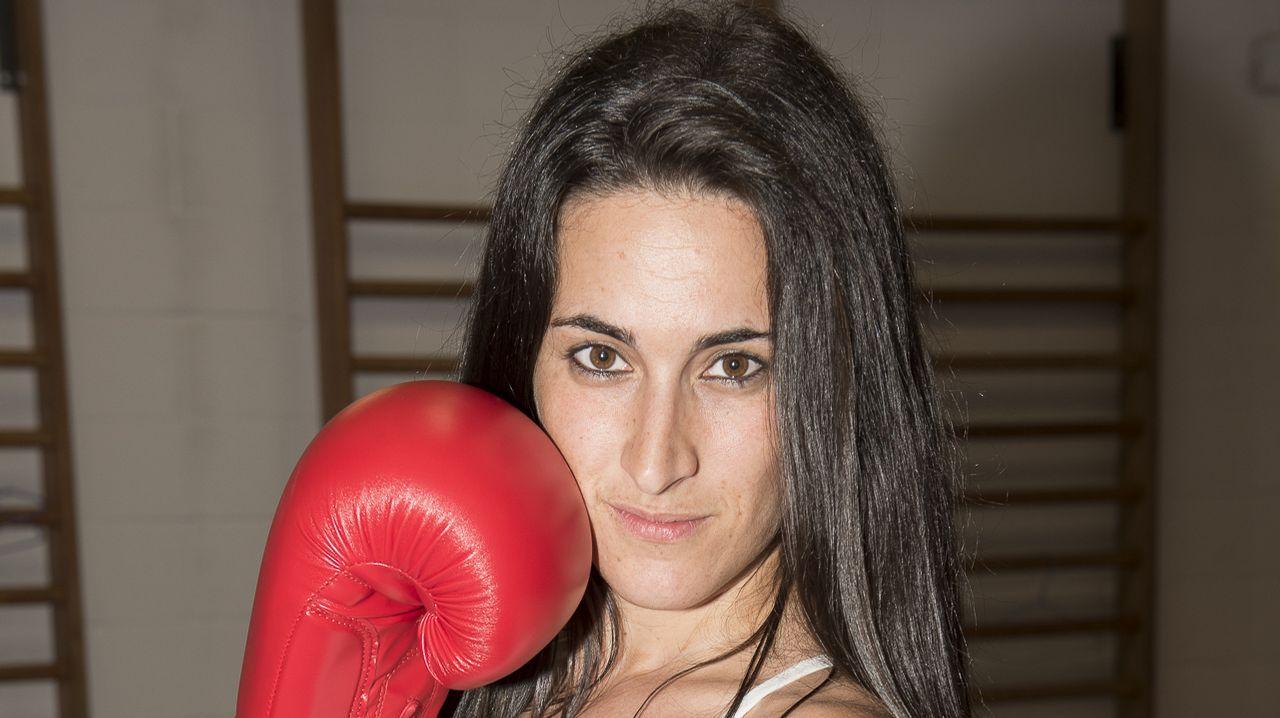 Lorena Bermúdez, un gancho a la esclerosis múltiple.Aitor Nieto