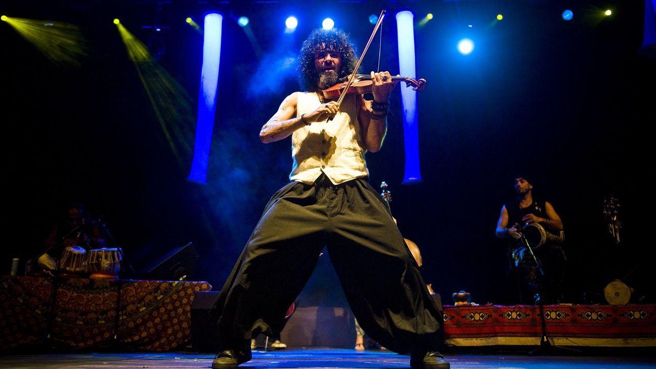 Ara Malikian durante un concierto en Ferrol