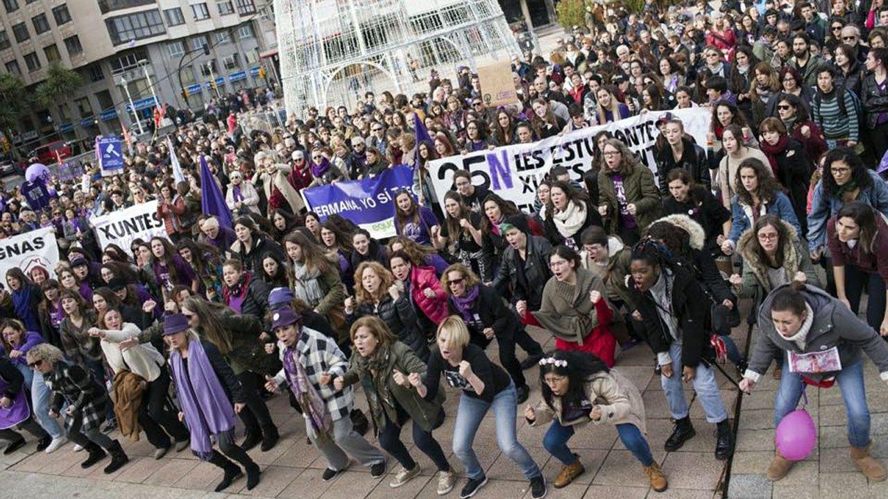 Asturias sale a la calle por el 25N