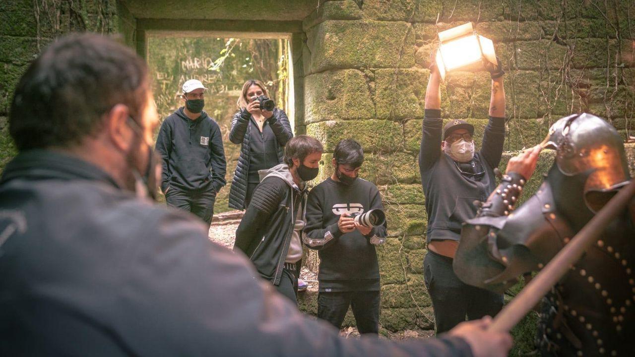 Grabación del nuevo vídeo en El Bosque Encantado de Aldán