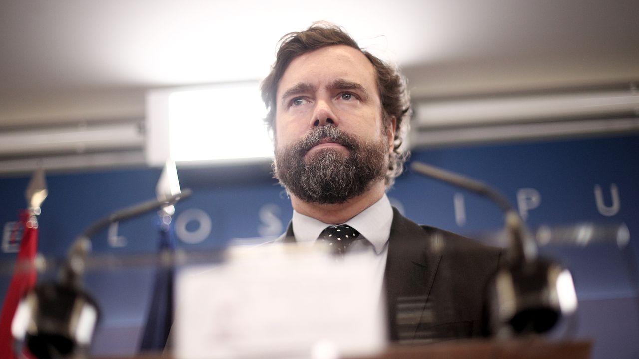 Padre Ángel. El portavoz de Vox en el Congreso, Iván Espinosa de los Monteros