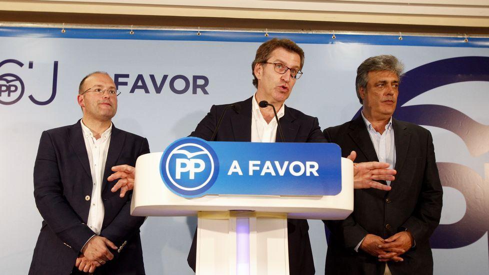 Feijoo, analizando los resultados en Galicia.