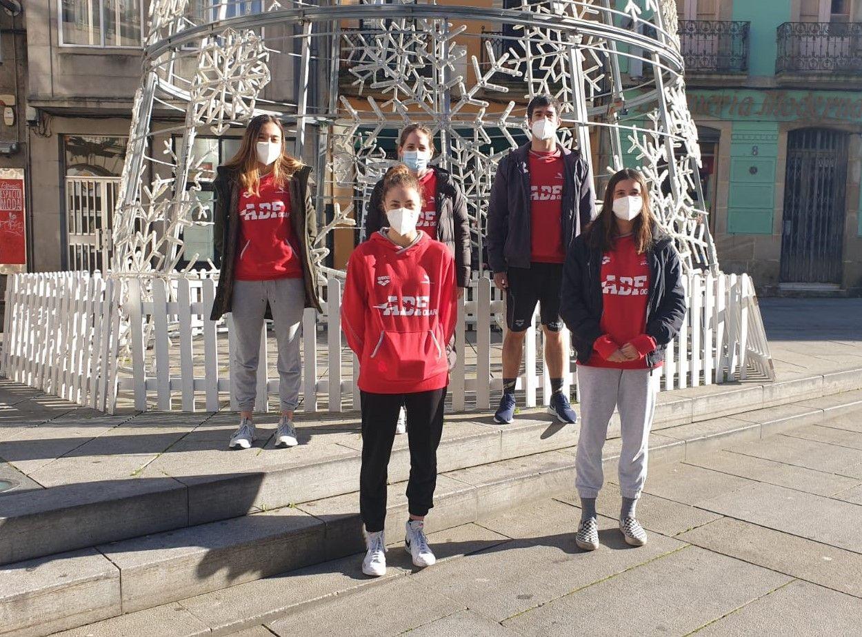 Los nadadores de ADFogar en Pontevedra