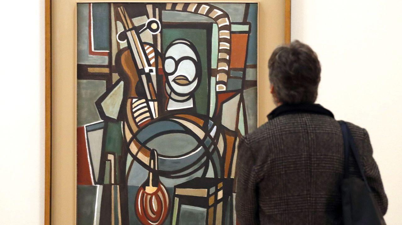 'Violonchelista', una obra de Lygia Clark de 1951