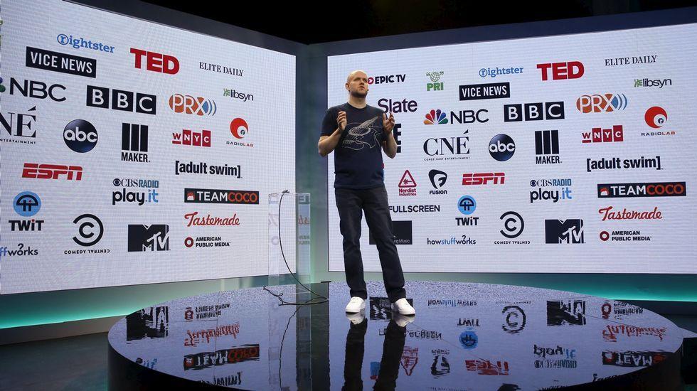 El CEO de Spotify, Daniel Ek, este miércoles en Nueva York