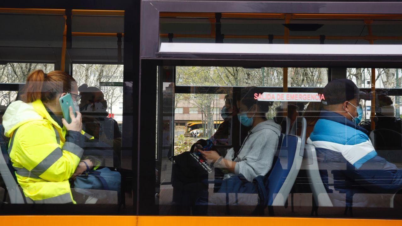 Ocupación del autobús en Pontevedra