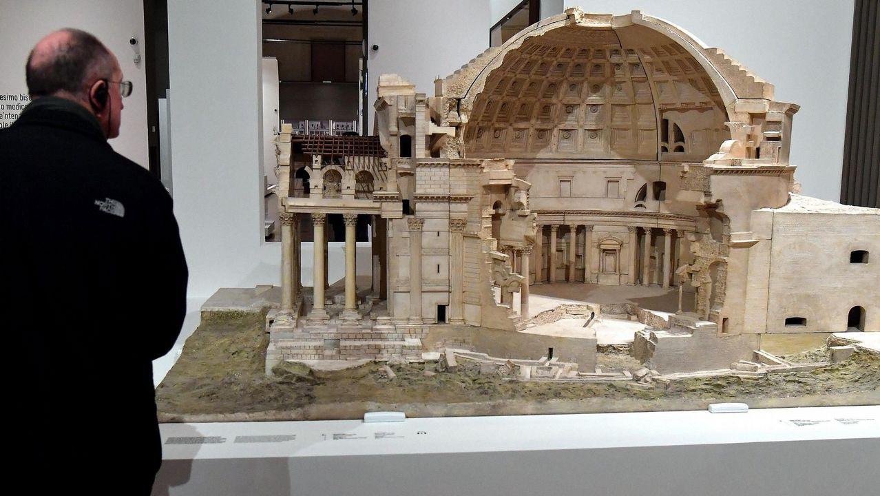 Maqueta del Panteón de Roma expuesto en la muestra «Leonardo da Vinci. La Scienza prima della scienza»