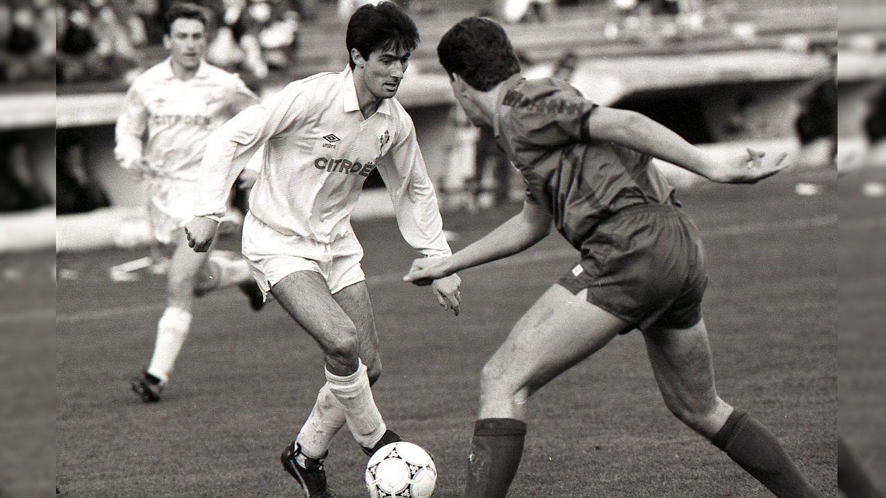 Vicente Celeiro jugando con el Celta en 1991