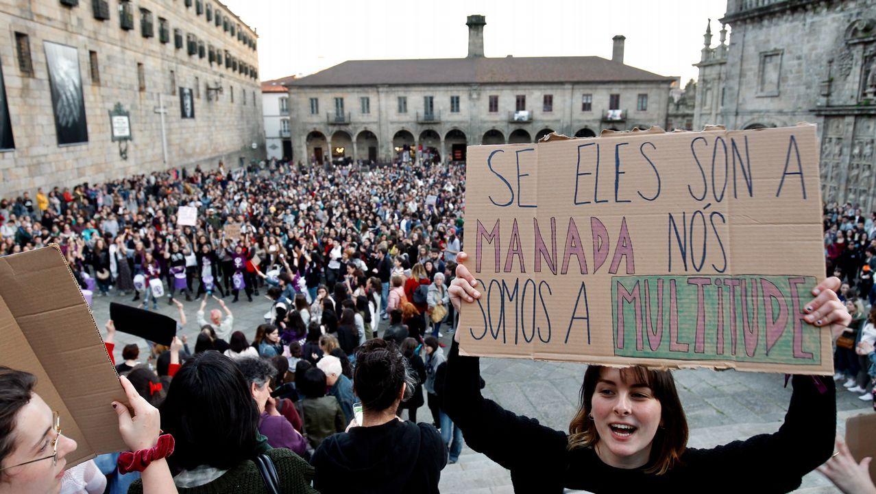 Las imágenes de las concentraciones en Galicia contra La Manada