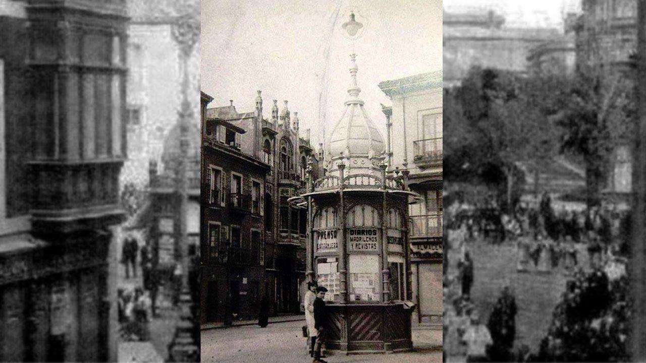 Las imágenes de La Algodonera de Gijón.Antonio Fraguas firmando a acta de constitución da fundación que leva o seu nome