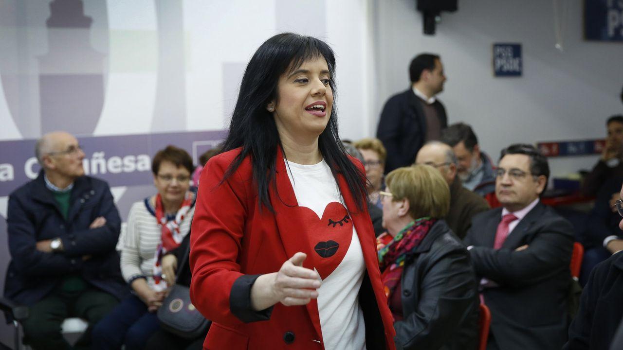 PRESENTACIÓN DEL CLUB DE EMPRESARIOS Y EJECUTIVOS DE GALICIA (CEEG).Eva Martínez Acón, secretaria general de la Agrupación Socialista de A Coruña