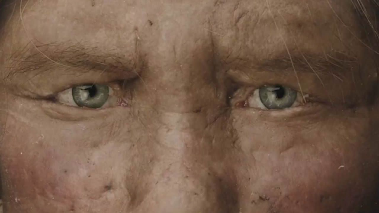 Frame dedicado al neandertal en el vídeo