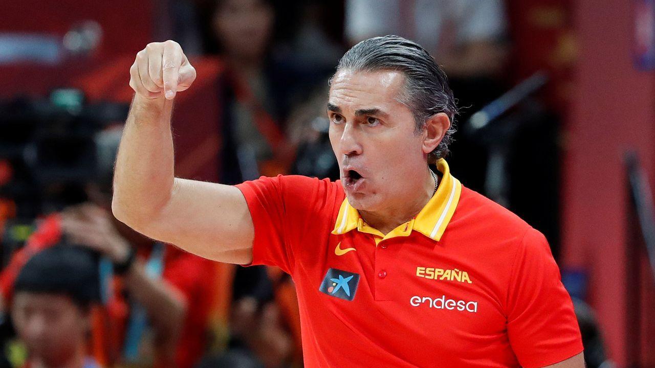 La selección española de baloncesto ya está en España
