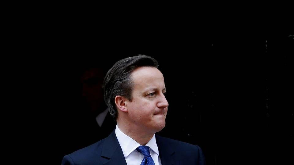 Las vacaciones de la familia Cameron.El primer ministro británico, David Cameron, a la salida del número 10 de Downing Street