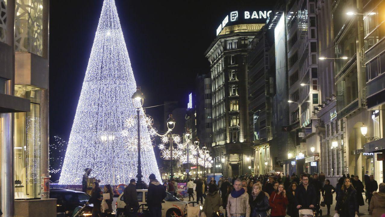 Iluminación navideña en A Coruña