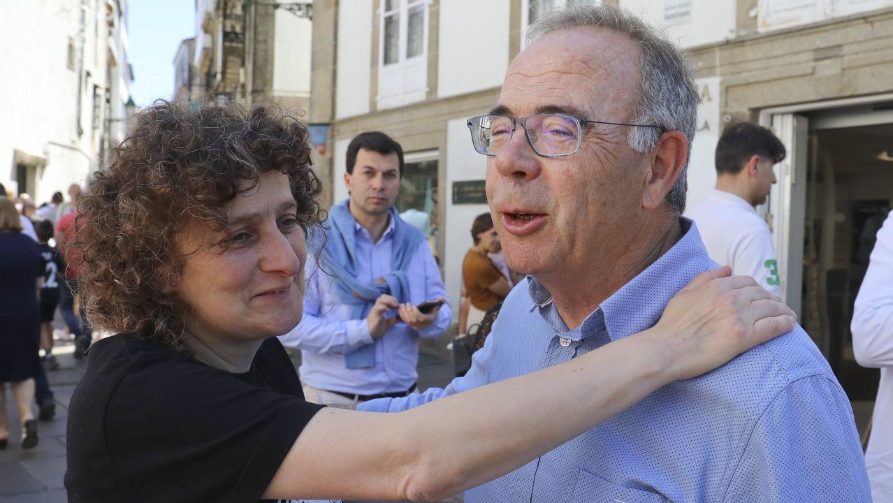 Feijoo, con Gonzalo Caballero cuando fue elegido secretario general del PSdeG