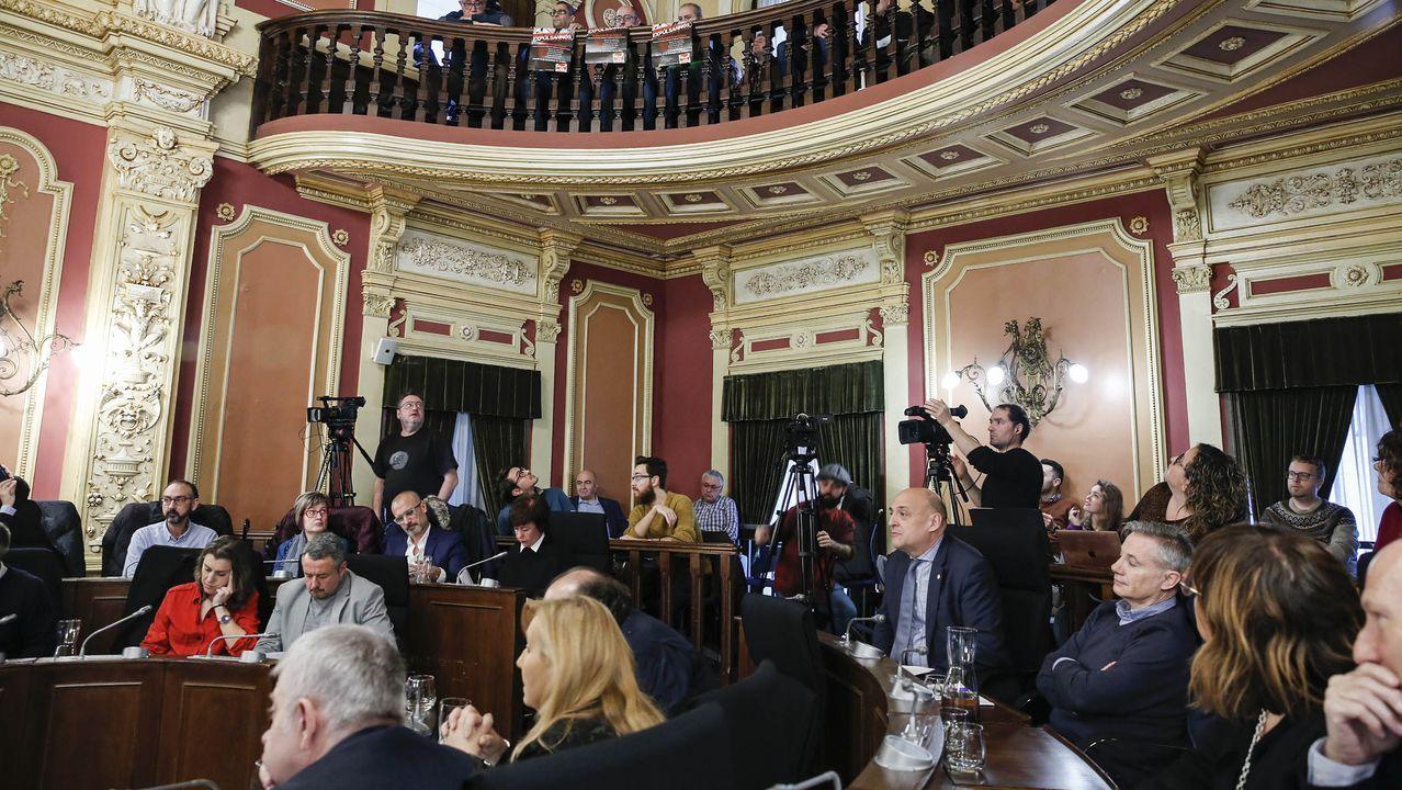 Clases vacías en Vigo en la reapertura de los colegios.Pasillos vacíos en la Facultade de Económicas de la USC