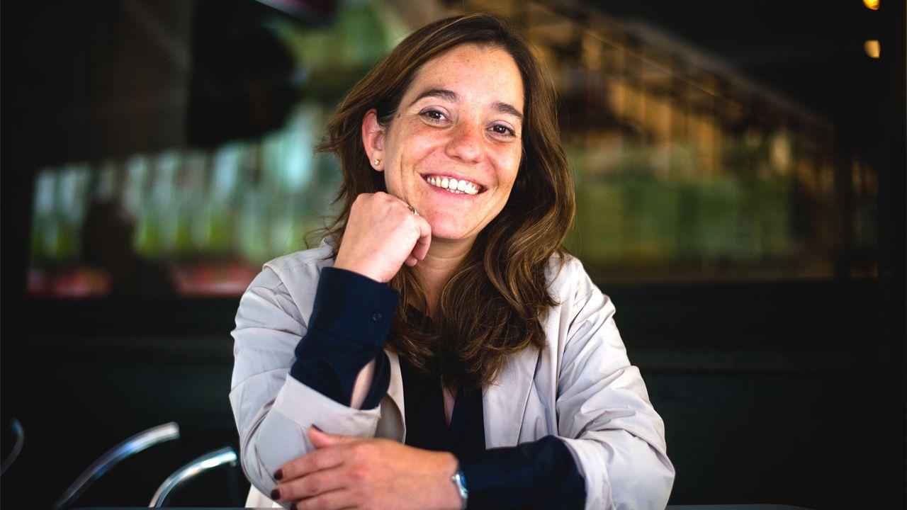 Alcoa.Inés Rey, en la plaza Maestro Mateo, en A Coruña