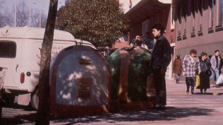 Los primeros contenedores de reciclaje de Asturias