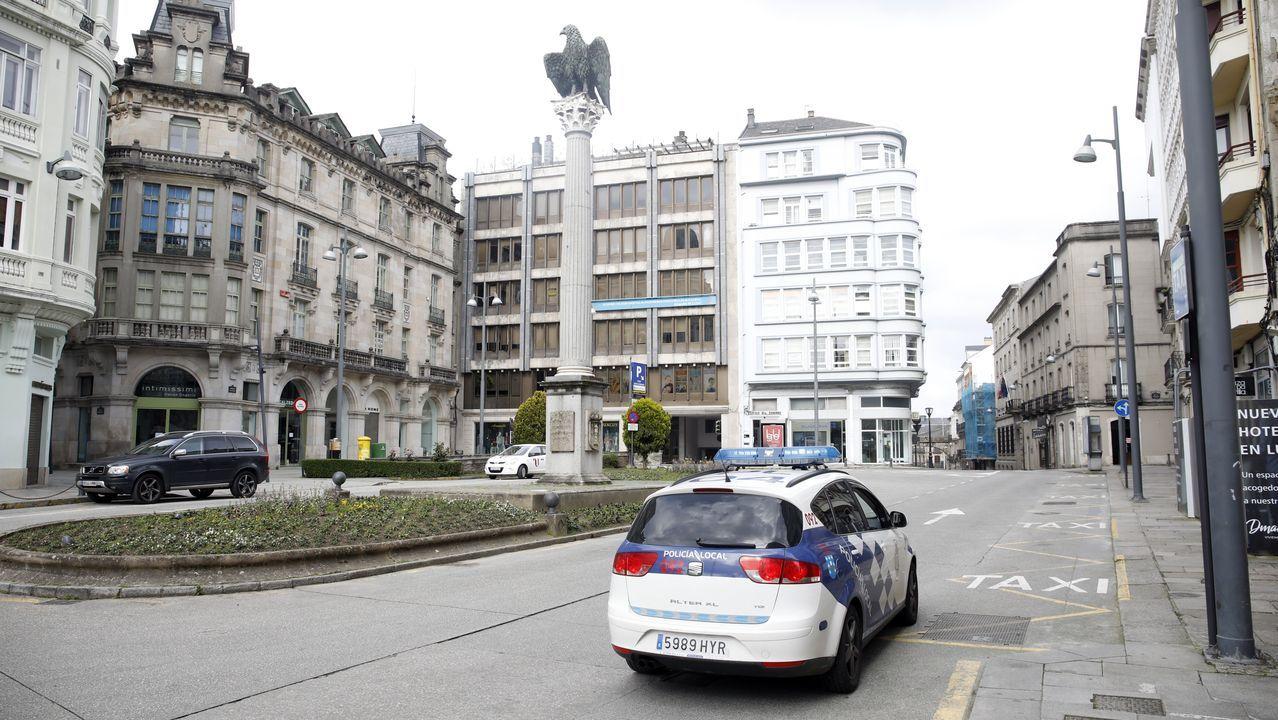 La plaza de Santo Domingo, en Lugo, prácticamente vacía