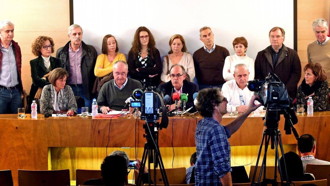 Centro penitenciario de Villabona.Presentación de la dimisión colectiva de los jefes de servicio de los centros de salud de Vigo en el Colegio de Médicos
