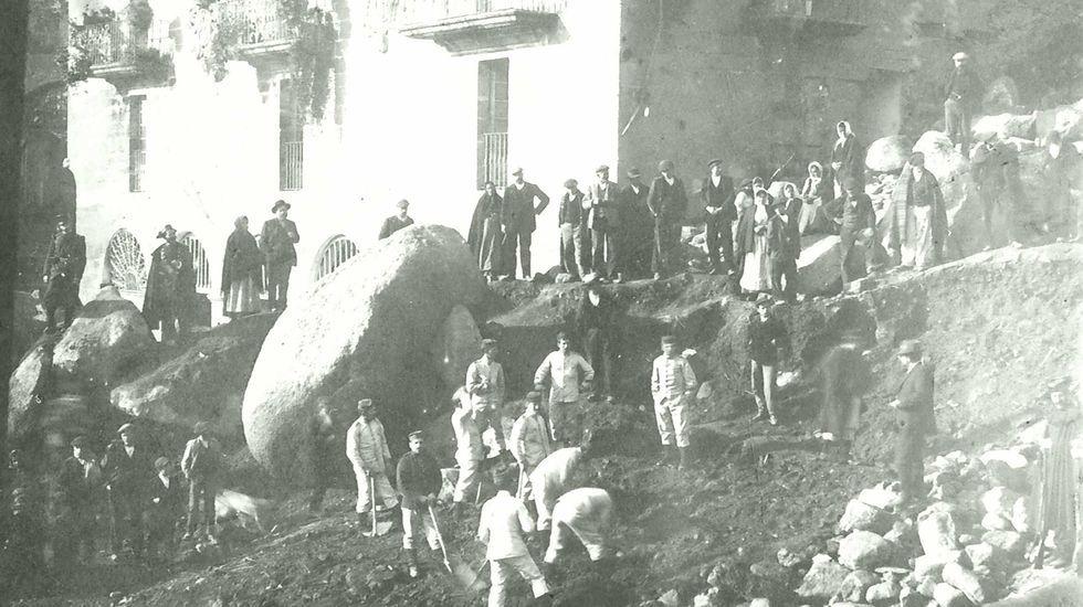 Sexta carrera popular pedestre de Ribadavia.El Ejército se desplazó hasta As Ermitas (O Bolo) en diciembre e 1909 para colaborar en las labores de desescombro