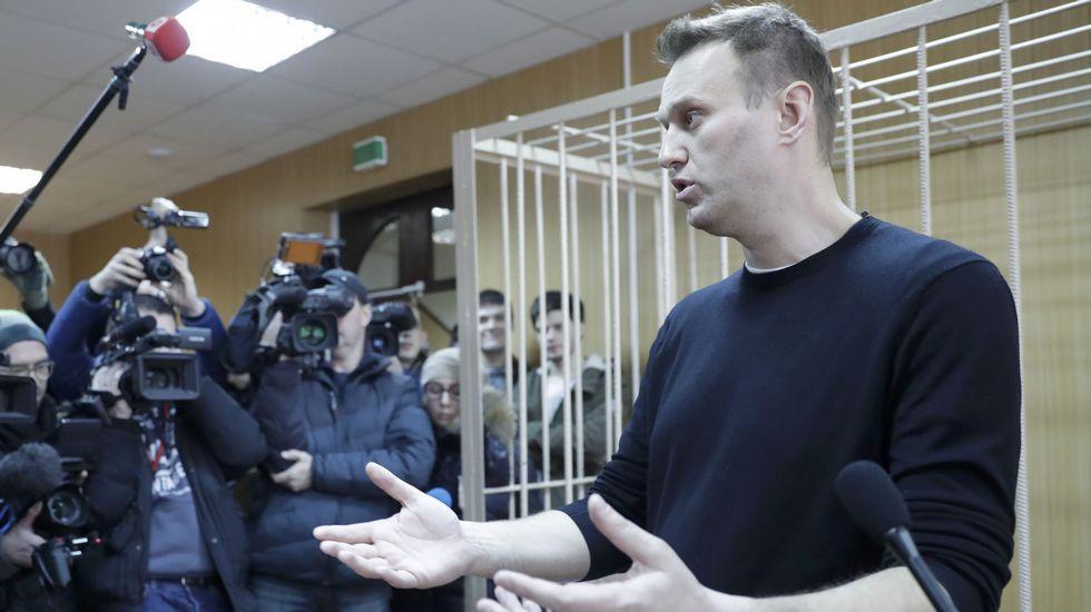 Alexei Navalny, tras ser detenido