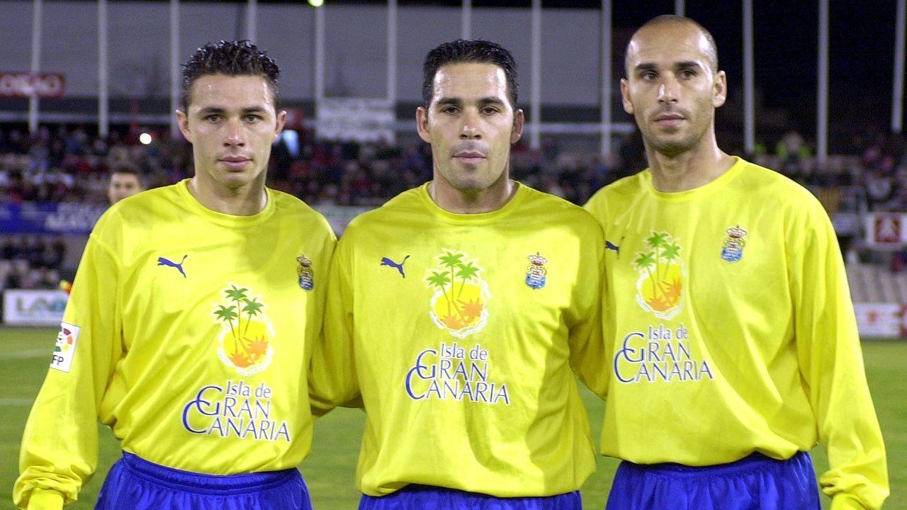 El incombustible delantero (izquierda) solo había jugado 3 partidos con el Las Palmas hasta la llegada de Fernando.