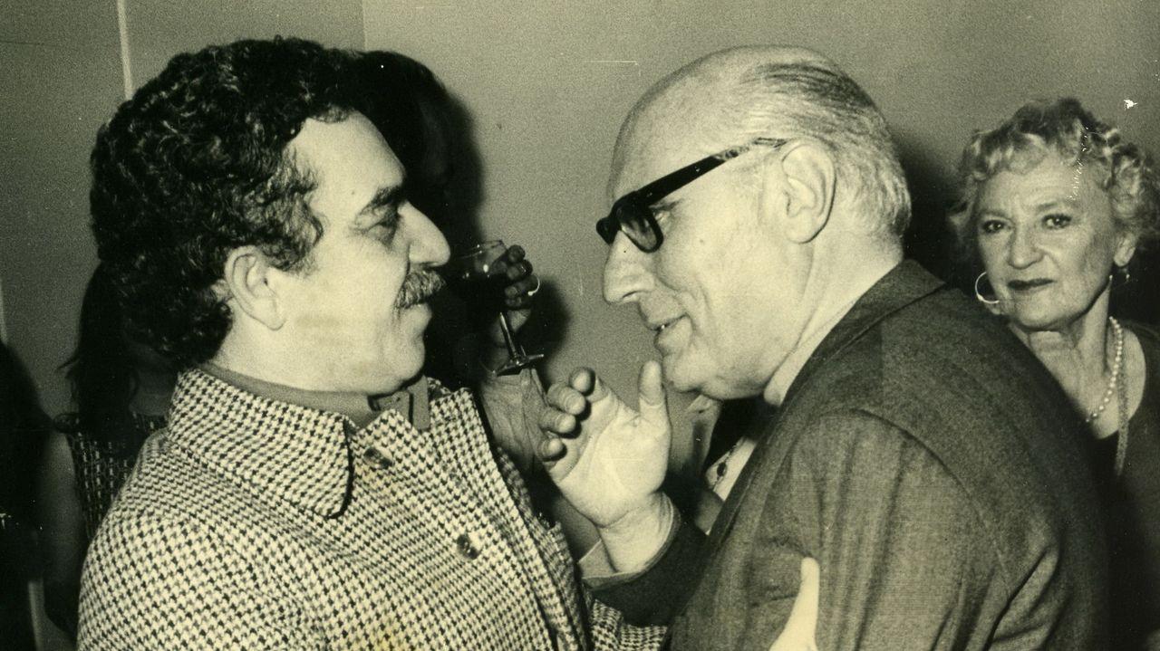 García Marquez, con el cineasta gallego