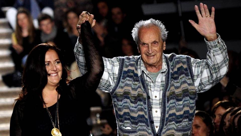 Ottavio Missoni junto a su hija Angela