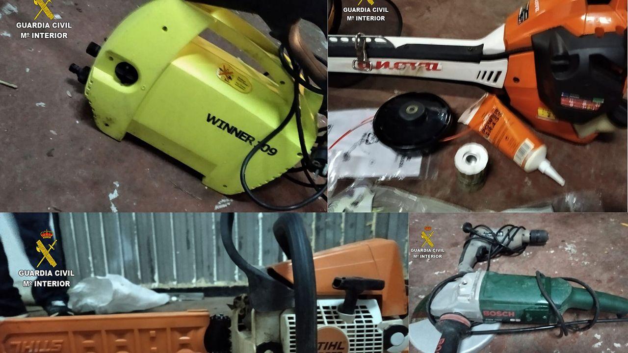 Material robado en un local en Siero