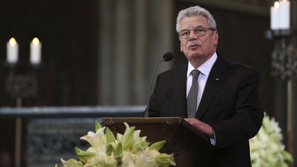 Joachin Gauck, presidente alemán, pronunció un emotivo discurso.
